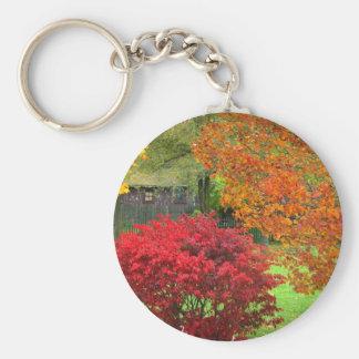 Autumn Hours Basic Round Button Keychain