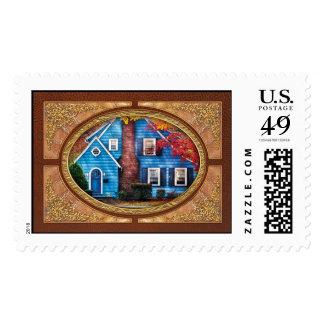 Autumn - House - Little Dream House Postage