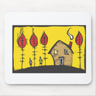 Autumn House Mouse Pad