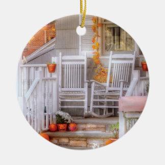 Autumn - House - My Aunts porch Ceramic Ornament