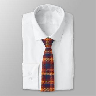 Autumn Hues Tweed Patterned Plaid Necktie
