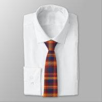 Autumn Hues Tweed Patterned Plaid Tie