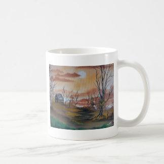 Autumn Hunting Cabin Coffee Mugs