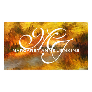 Autumn Impressions | Monogrammed Business Cards