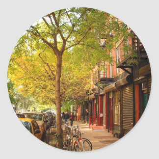 Autumn in Alphabet City, East Village, NYC Classic Round Sticker