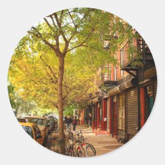 Autumn in Alphabet City, East Village, NYC Classic Round Sticker
