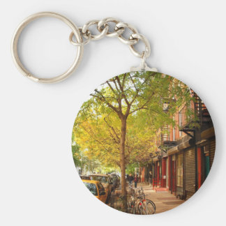 Autumn in Alphabet City, East Village, NYC Keychain