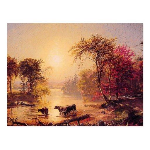 Autumn in America Postcard