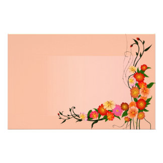 Autumn in Bloom Colorful Fall Floral Stationery