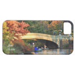 Autumn in Central Park: Boaters by Bow Bridge  #01 iPhone 5 Cases