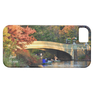 Autumn in Central Park Boaters by Bow Bridge 01 iPhone 5 Covers