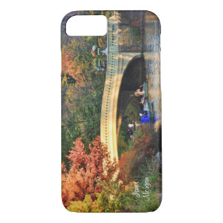 Autumn in Central Park: Boaters by Bow Bridge #01 iPhone 7 Case