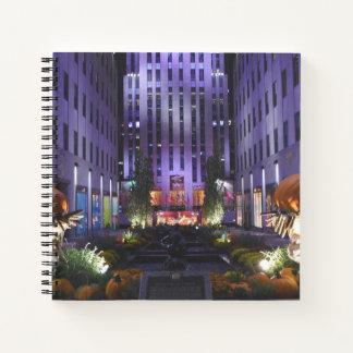 Autumn in Channel Gardens Rockefeller Center NYC Notebook