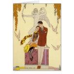 Autumn in France Art Deco Card