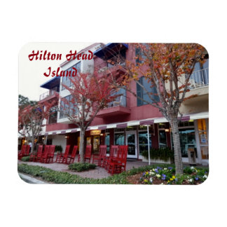 Autumn in Hilton Head Island - Harbour Town Shops Magnet