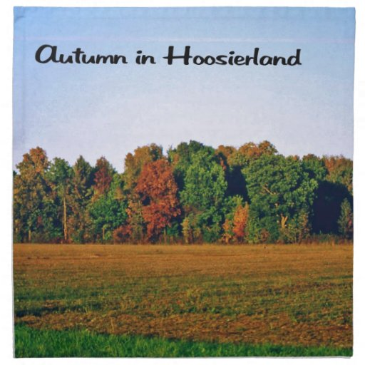 Autumn in Indiana Printed Napkins