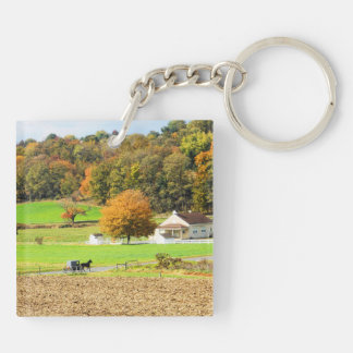 Autumn in Lancaster County, PA Keychain