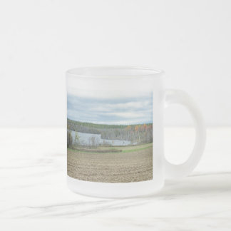 Autumn In Maine 10 Oz Frosted Glass Coffee Mug