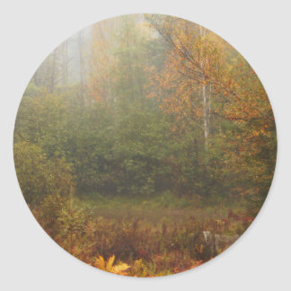 Autumn in Muskoka Classic Round Sticker