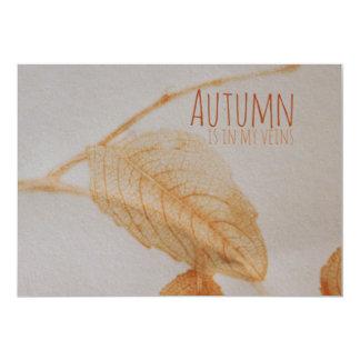 Autumn in my veins invitations