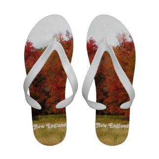 Autumn in New England Flip Flops