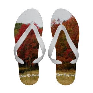 Autumn in New England Flip-Flops