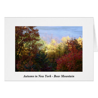 Autumn in New York - Bear Mountain Card