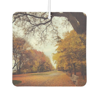 Autumn in New York NYC Riverside Park Fall Leaves Air Freshener