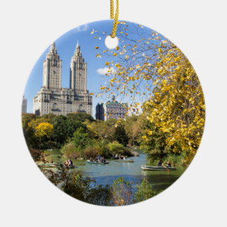 Autumn in New York, Thanksgiving Ceramic Ornament