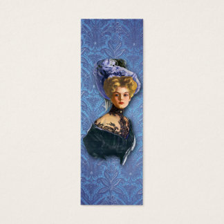AUTUMN in PARIS 1897: ROMANTIC BLUE Mini Business Card