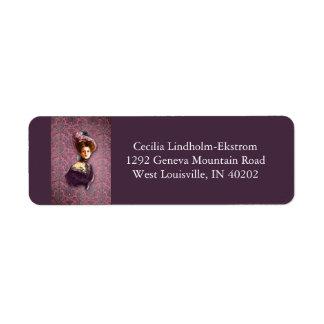 AUTUMN in PARIS 1897: ROSY OUTLOOK Return Address Label