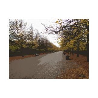 Autumn in Regents Park Canvas Print
