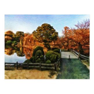 Autumn in Shinjuku-ku Garden Tokyo Japan Postcard