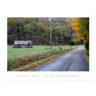 Autumn in Tennessee country Postcard