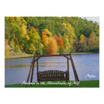 Autumn in the Adirondacks of NY Print or Poster