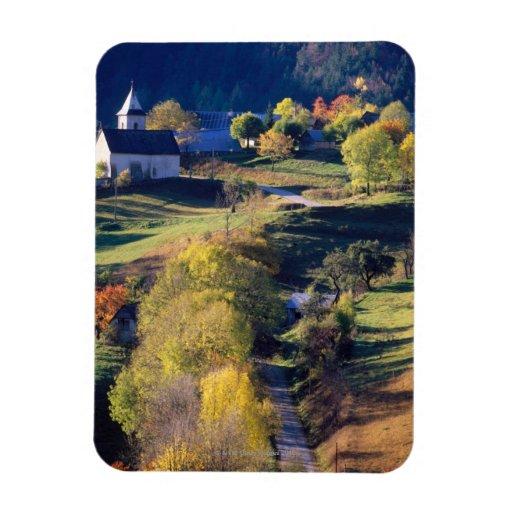 Autumn in the Alps Rectangular Photo Magnet