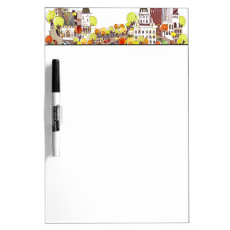 Autumn In The City Dry Erase Board