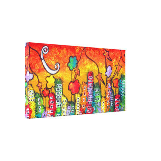 Autumn In The City Gallery Wrapped Canvas
