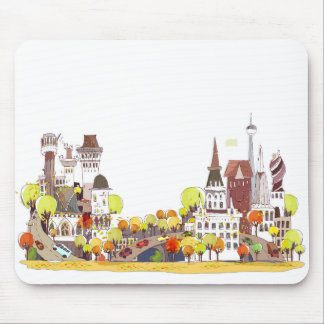 Autumn In The City Mouse Pad