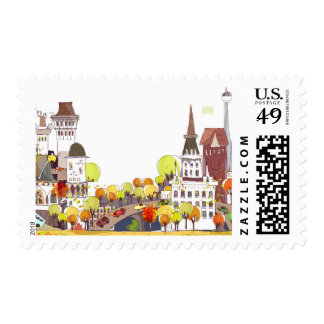 Autumn In The City Postage