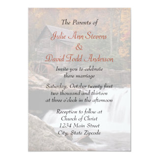 Autumn In The Country Wedding Card