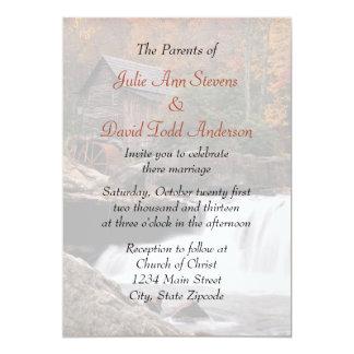 Autumn In The Country Wedding Custom Invitation