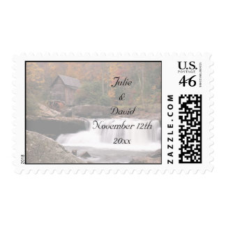 Autumn In The Country Wedding Postage Stamp