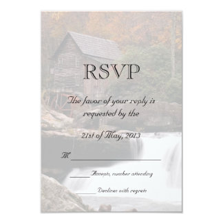 Autumn In The Country Wedding RSVP 3.5x5 Paper Invitation Card