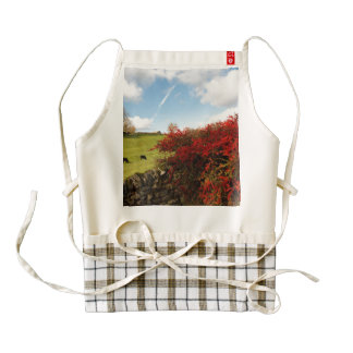 Autumn in the Country Zazzle HEART Apron