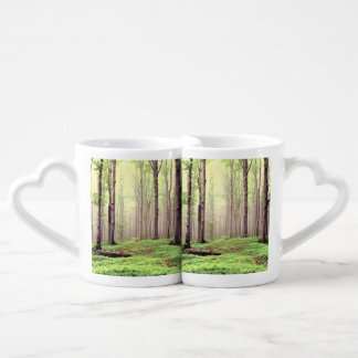 Autumn in the forest couples coffee mug