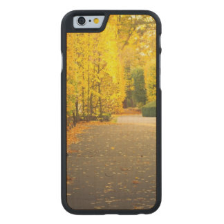 Autumn in the park in Gdansk, Poland Carved Maple iPhone 6 Case