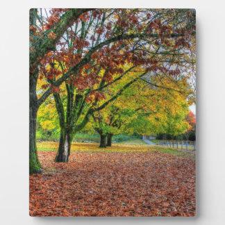 Autumn in the Park Plaque