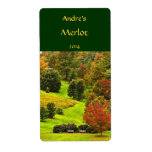 Autumn in the Park Wine Label Shipping Label