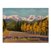 Autumn In The Rockies Vintage Postcard